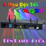 Đèn laser quét tia 4 cửa 4 màu B102RGB/4