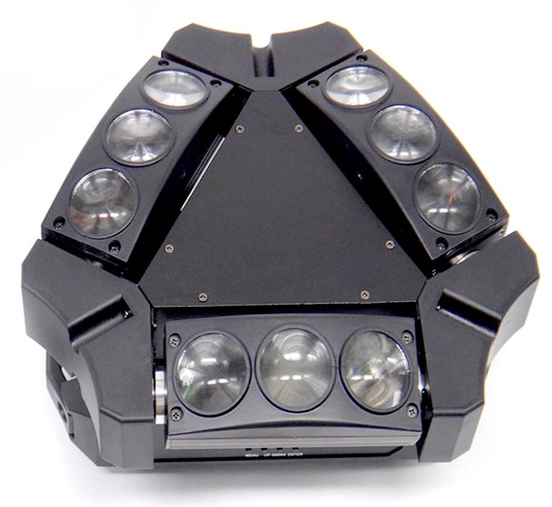 Mặt trên đèn moving head 9 mắt mini