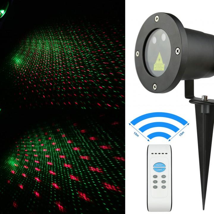 Đèn laser chiếu hình chấm sao ngoài trời VD003RG