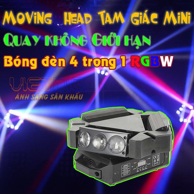 Đèn moving head 9 măt mini và hiệu ứng