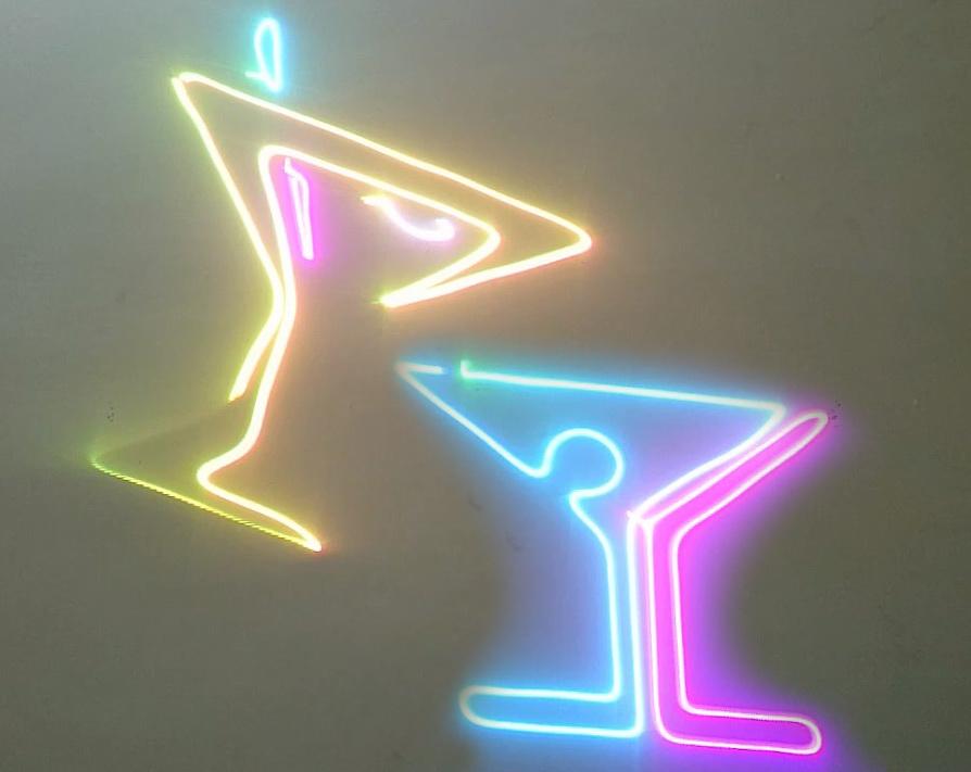 Hình chiếu của đèn laser 7 màu 5 trong 1 chiếu hình động 3D