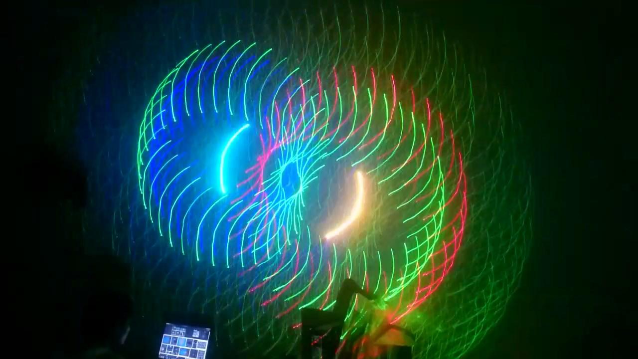 Hiệu ứng 3D của đèn laser 7 màu
