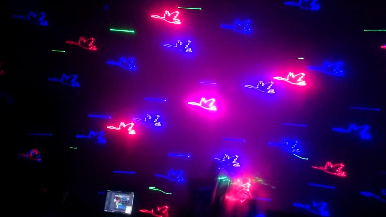 Chiếu và nhân hình laser động