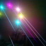 Đèn laser bắn chùm tia chấm bi mạnh mẽ