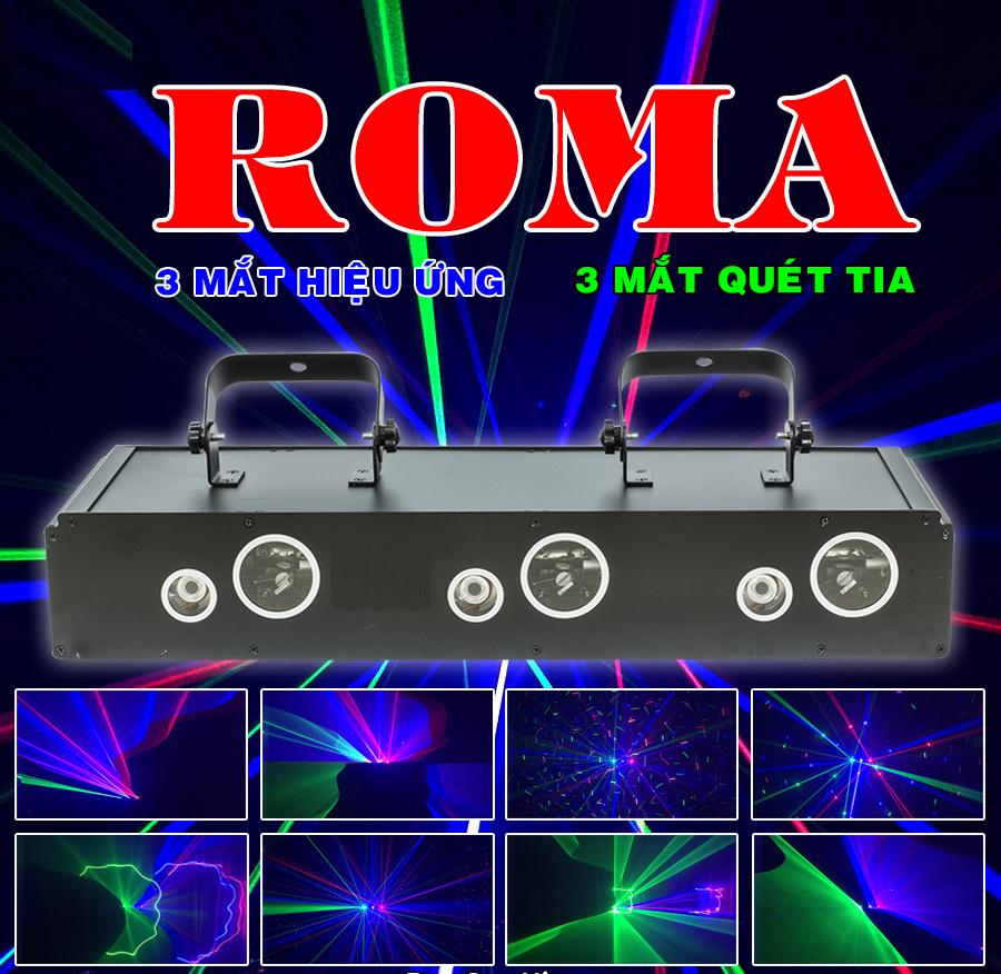 Đèn còn có tên gọi khác là đèn laser 6 mắt ROMA