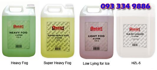 Các loại dung dịch nước tạo khói antari khác nhau
