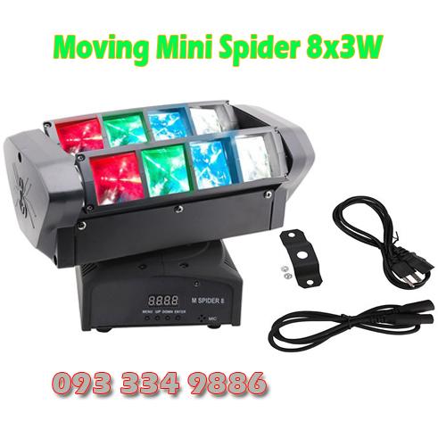 Đèn moving head Spider 8x10W 3 trục quay