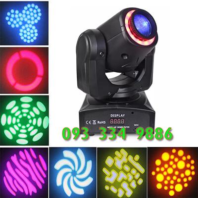 Đèn moving head LED 30W có viền LED và các gobo hình