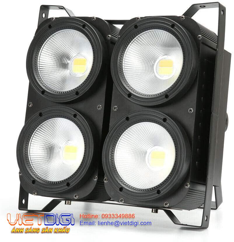 Mặt trước đèn Blinder COB LED 4x100W