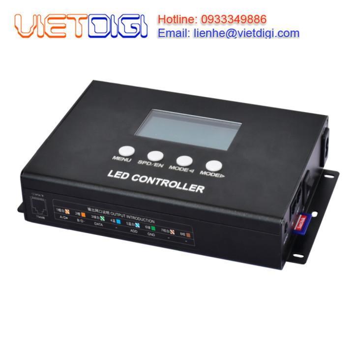 Bộ điều khiển đèn LED pixel full color 8 cổng SD-408