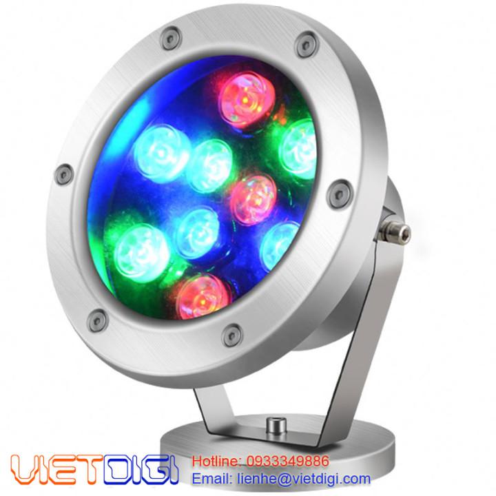 Đèn âm nước 9W RGB đổi màu dạng đế ngồi VDA901